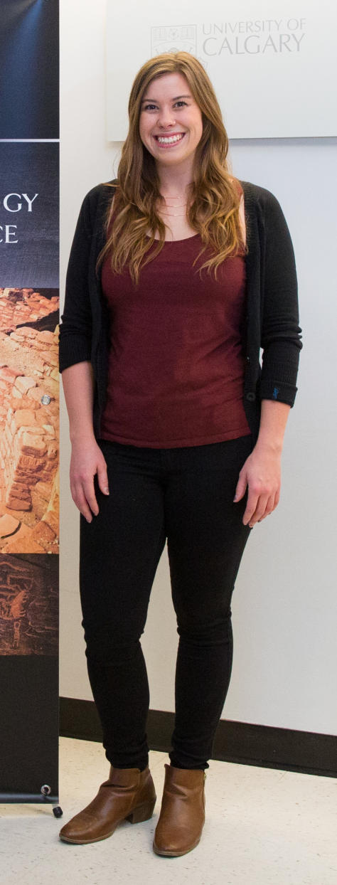 Kelsey Pennanen is one of the archaeology MA students who leads the Aboriginal Youth Engagement Program.