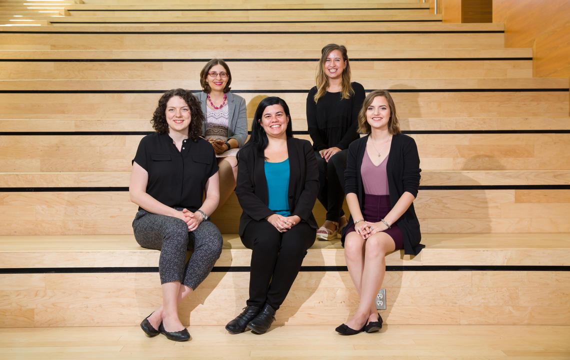 2018 Vanier Scholarship recipients, from left: Emilie Lacroix, Leanne Dawson, Haydee Mesa Galloso, Breanna Borys, and Samantha Baglot.