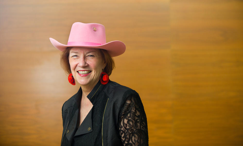 Aritha van Herk shares passion for Calgary's history through Stampede and the Westness of West, a work of prose poetry.