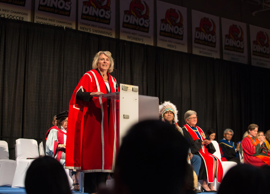 President Elizabeth Cannon invites students to make the most of their time at the University of Calgary.