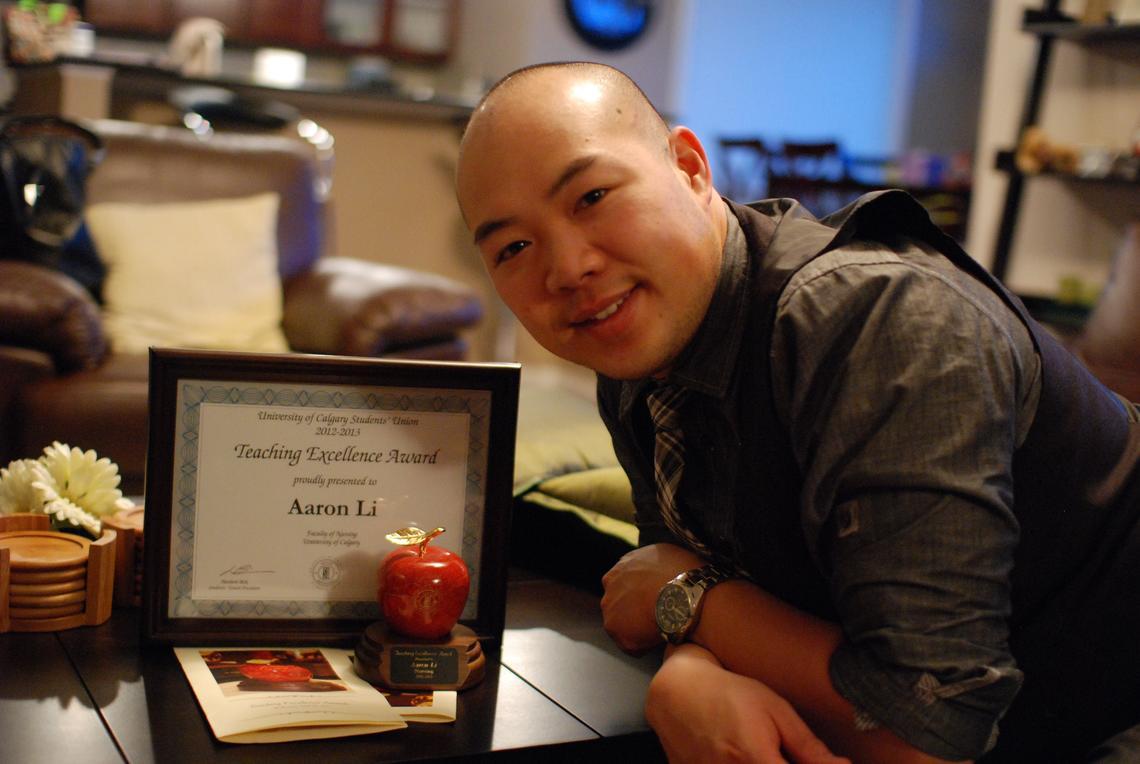 Aaron Li, clinical instructor, UCalgary Nursing