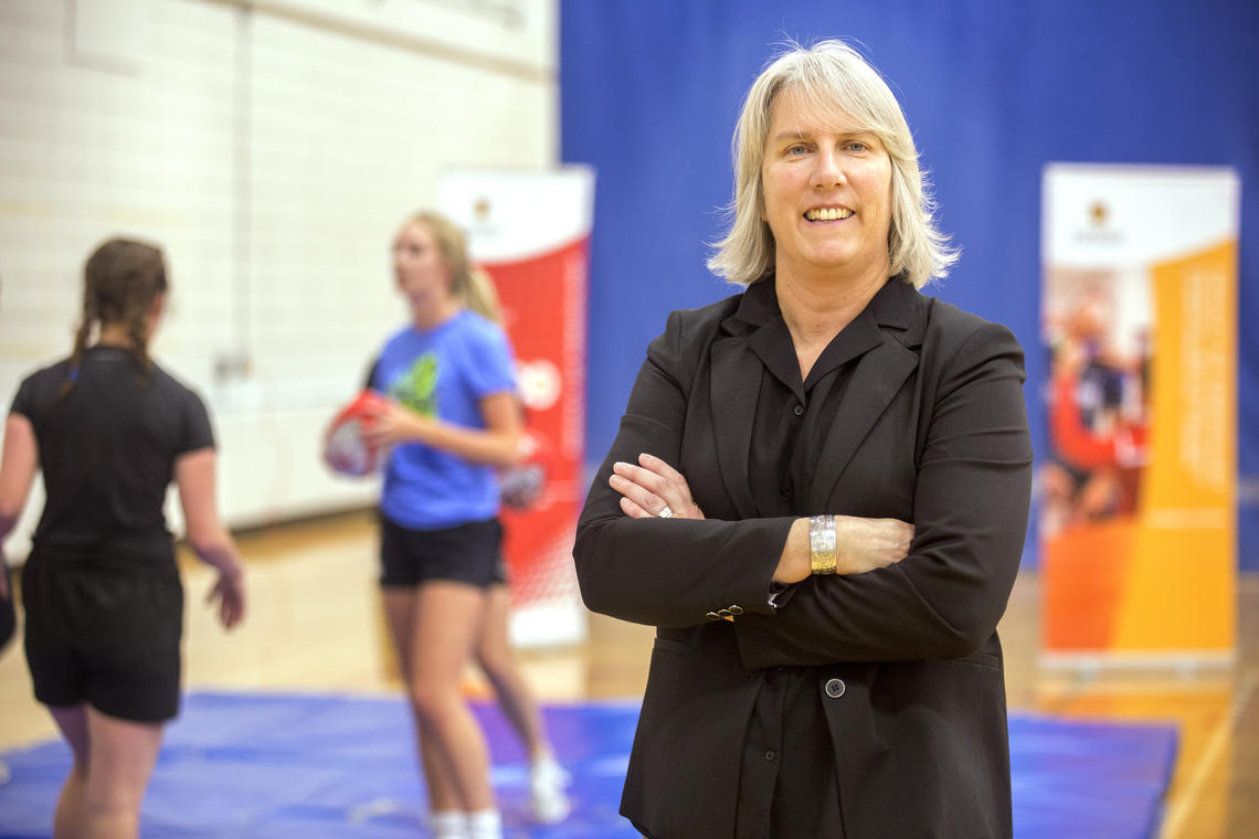 University of Calgary researcher Carolyn Emery will lead the pan-Canadian research program funded by the National Football League's scientific advisory board. Photos by Colleen De Neve, for the Faculty of Kinesiology