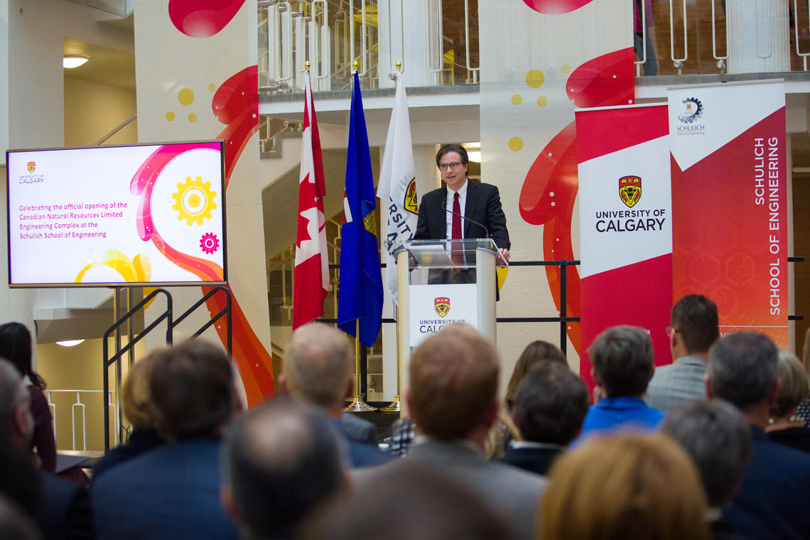 University of Calgary officially opens upgraded engineering