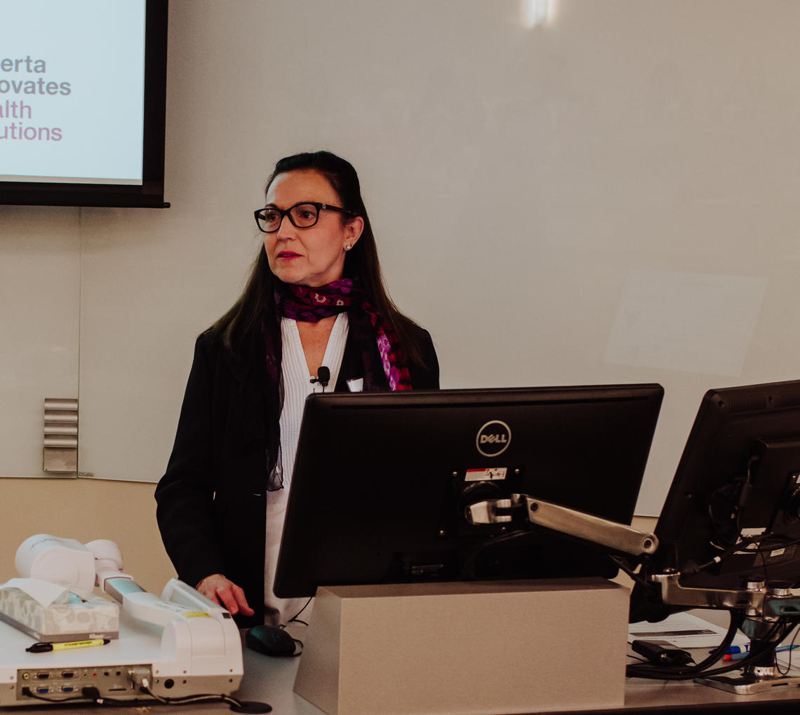 Maria Santana, PhD, discusses the different provincial initiatives underway to address person-centred care in Alberta.