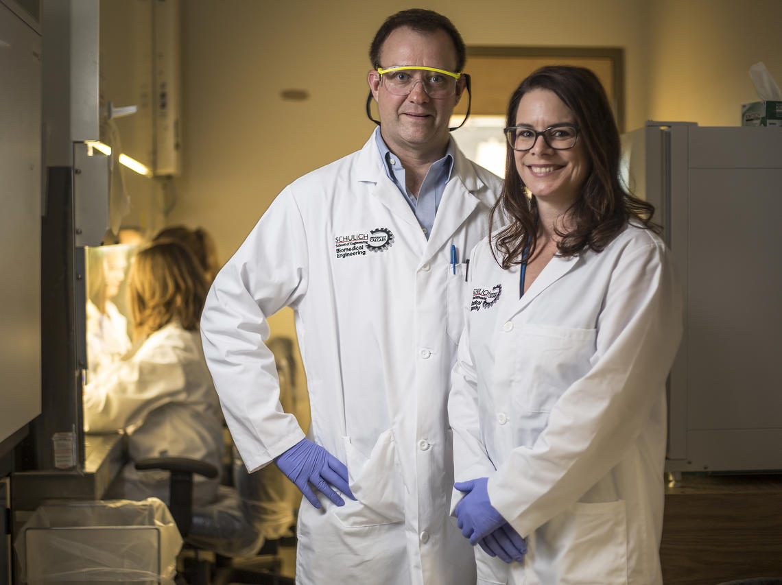Bob Shepherd and Tina Rinker hope to have the blood test for breast cancer ready for commercialization within the next two years.