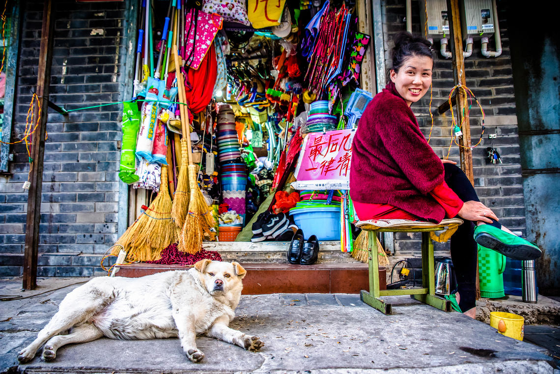 University of Calgary student Jessica Wry won an honourable mention for her shot, Minding the Shop, taken in Beijing, China.