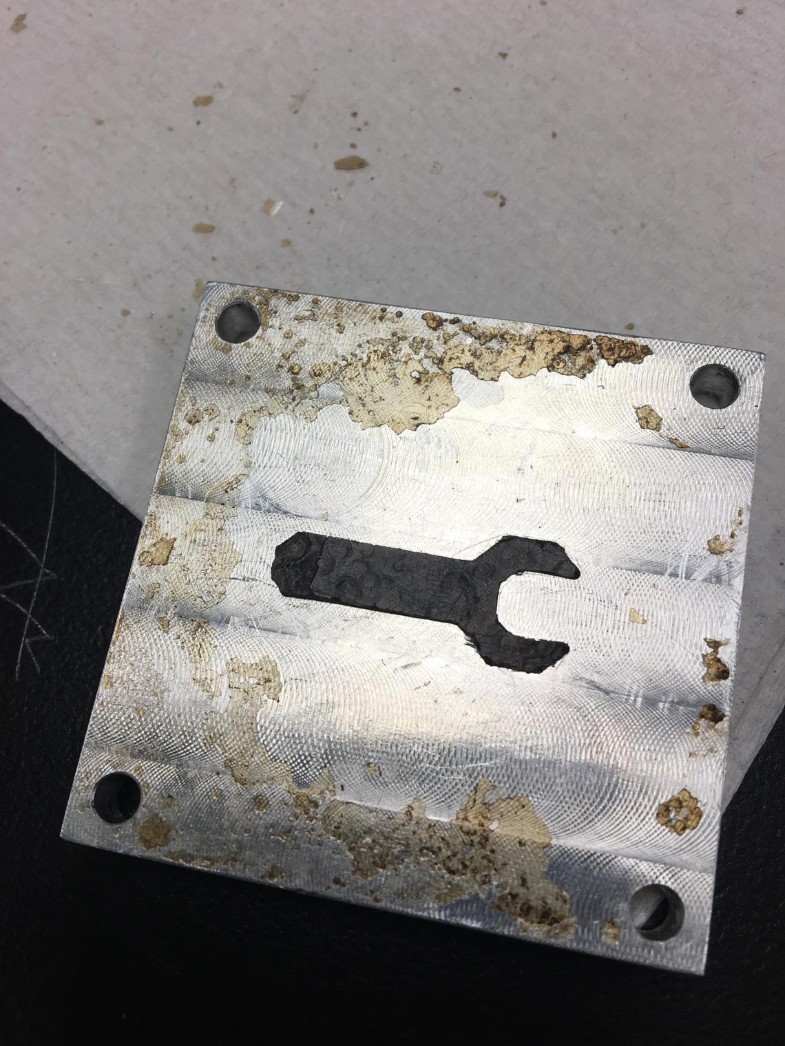 A sample wrench, made out of simulated human waste