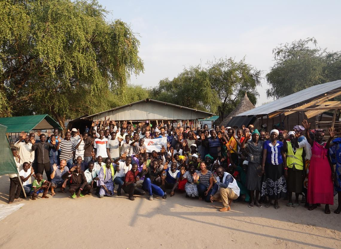 MSF Team Photo in South Sudan