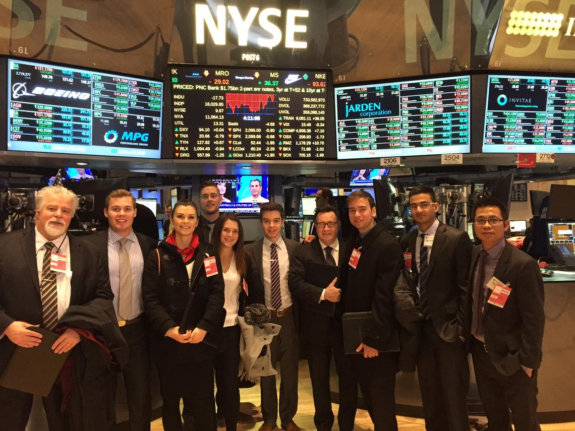 The Haskayne School of Business students' meetings ranged from casual lunches and Q&A sessions to a tour of the New York Stock Exchange.