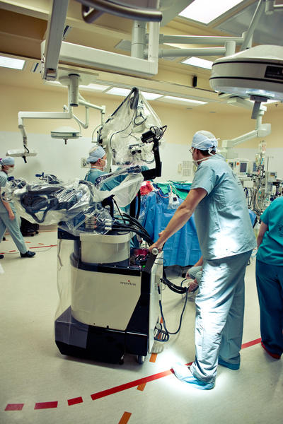 neuroArm made history in 2008 when the robotic system was used to operate on a human patient for the first time, using image-guided neurosurgery to remove a brain tumour from a 21-year-old patient.