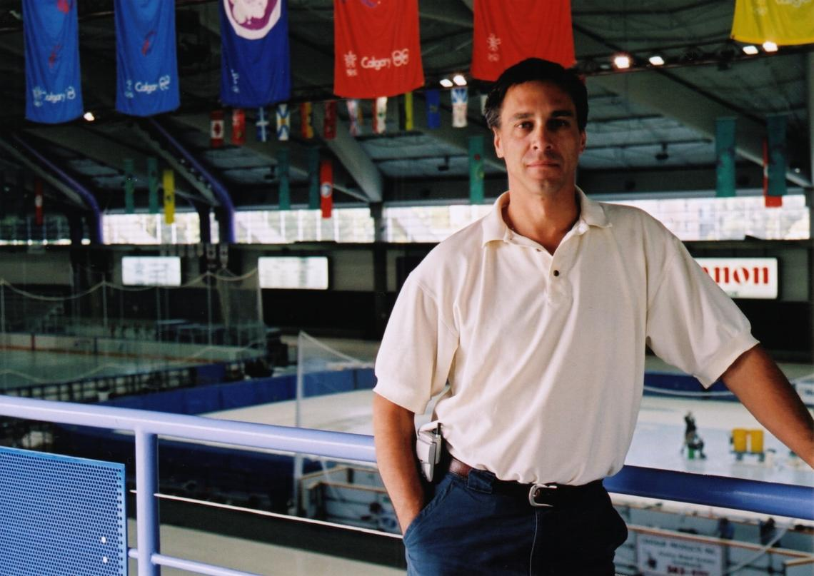 """Mark Messer at home in the Olympic Oval, always looking to make it Canada's """"home ice."""""""