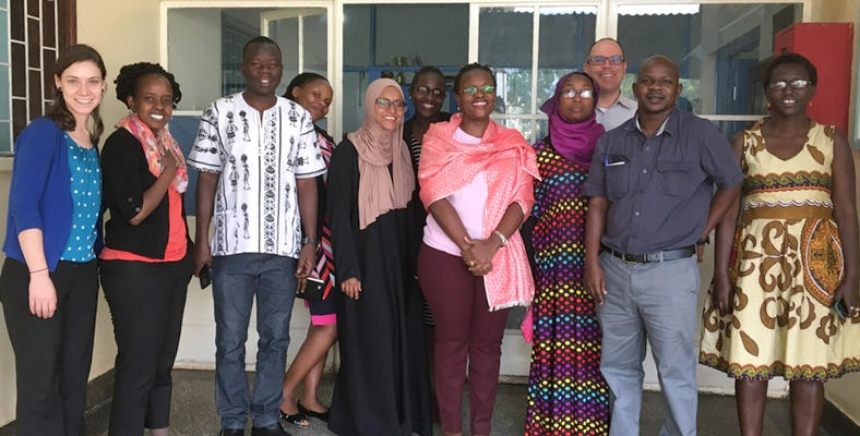 Greg Guilcher, third from right, with the Paediatric Resident cohort, part of a partnership with the University of Calgary and the Mbarara University of Science and Technology in Uganda to train paediatricians and share expertise globally.
