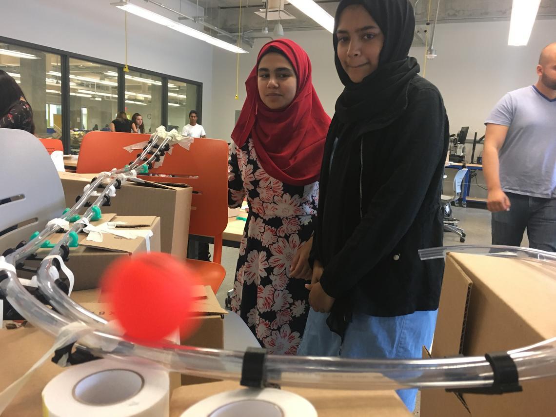 Students build desktop luge track