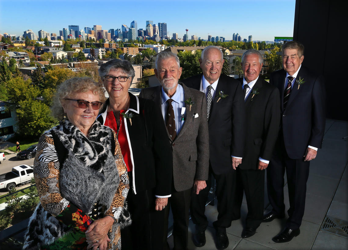Six of the seven Top 7 Over 70 winners