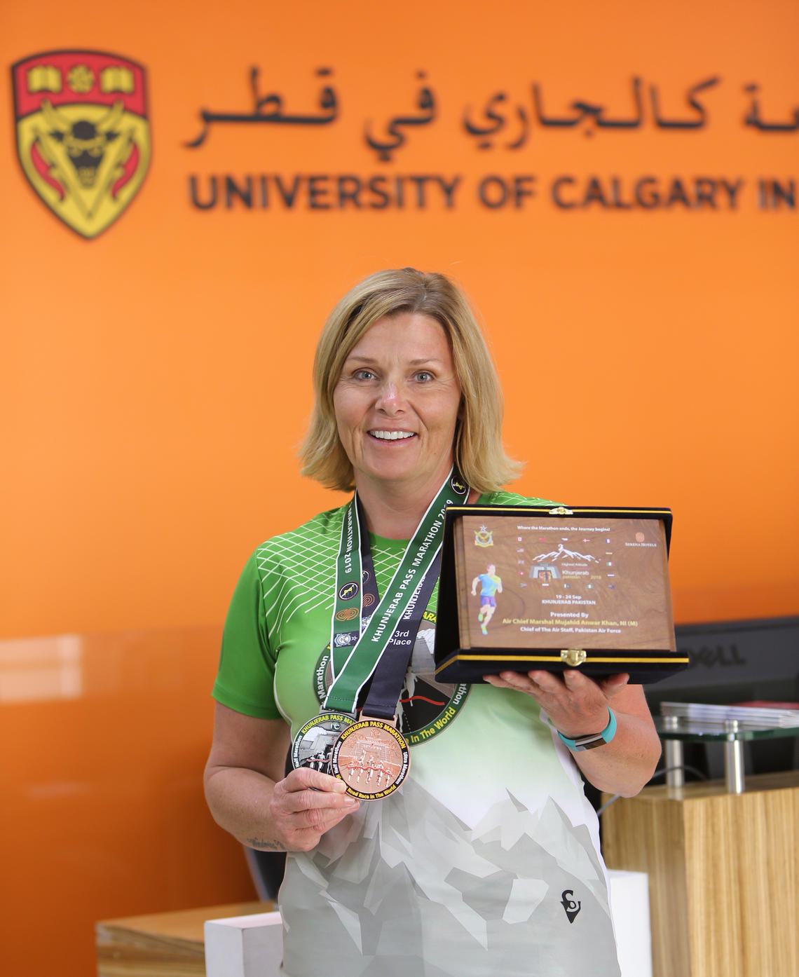 Donna Wood with medals