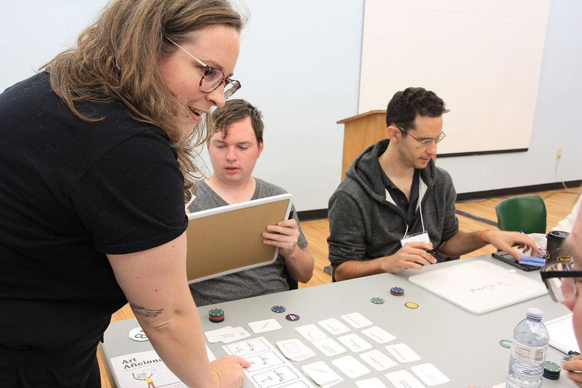 Pam Walls playtests a new game concept at ProtoTO