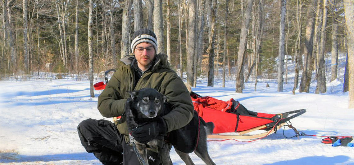 Nicholas Butt says cohort members learned lessons in teamwork and selflessness during the expedition as the needs of the dogs always came first. Photo courtesy of Nicholas Butt