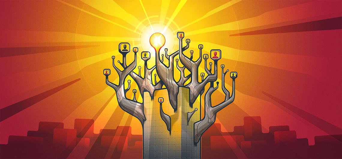 Illustration of crowdsourcing