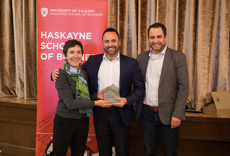Anne Kleffner, Erik Johnson and Michael Ilnycky at the awards luncheon on March 6, 2020.