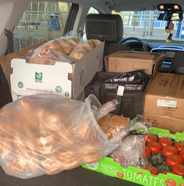 Fresh food donated to Leftovers Foundation.