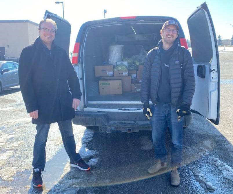 The Leftovers Foundation packs up another food pickup.