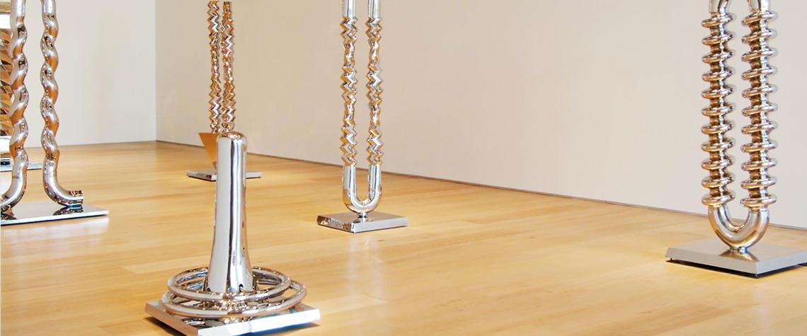 Katie Ohe sculptures on display