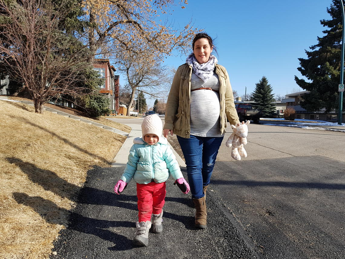 Amanda Jacques and 2-year-old daughter Hazel