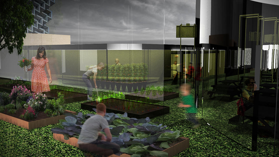 Garden render, Rochelle Greenberg (MArch'20)