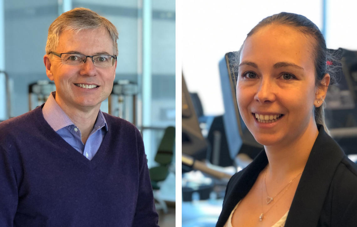 Marc Poulin and Veronica Guadagni are authors of the Brain in Motion study, which was published May 13 in Neurology.