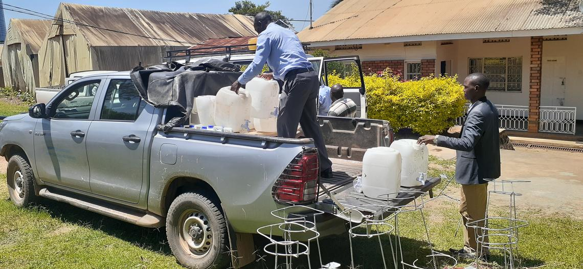 hand washing station delivery