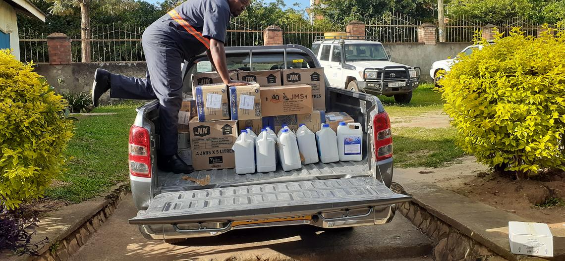 truck with supplies