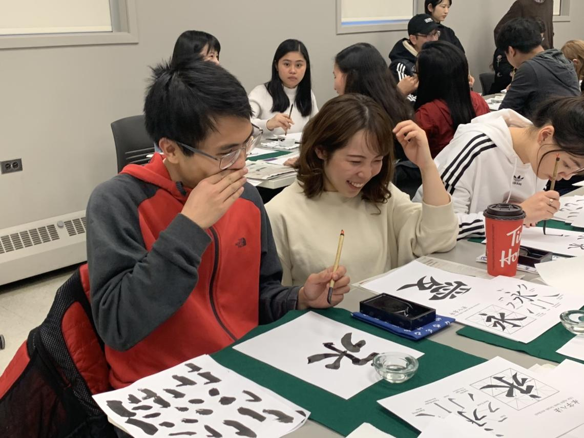 Students attending Think Ink 7! Calligraphy Event