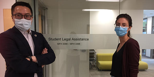 Timothy Wun (SLA articling student) Louanne Moriarty (SLA Student Director)