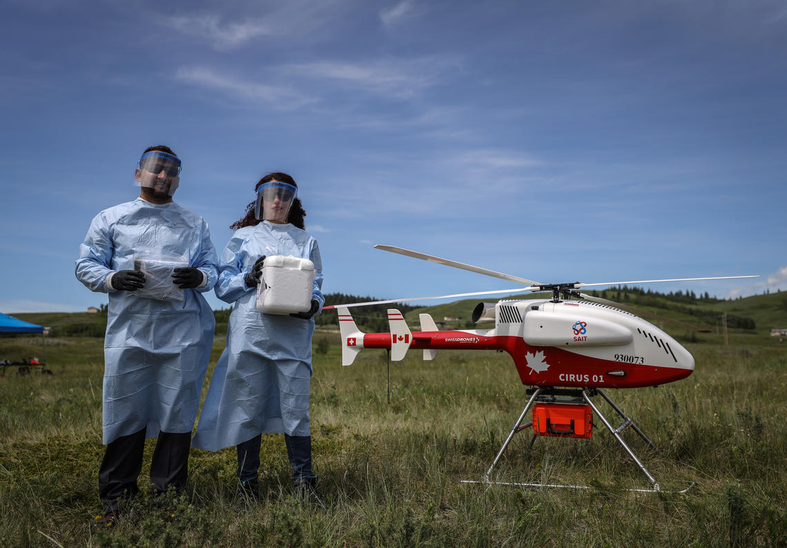 Drones may provide a complimentary essential service to deliver medical supplies during the pandemic to isolated communities.