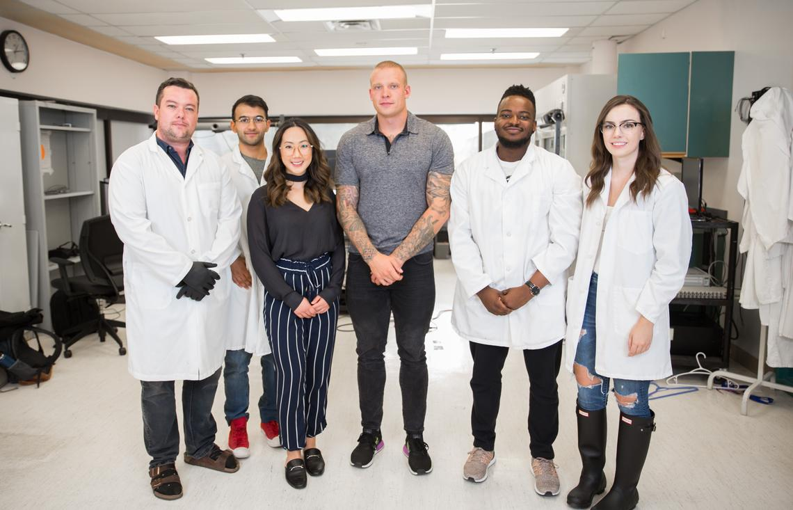 Ryan Peters lab group in the Faculty of Kinesiology at the University of Calgary