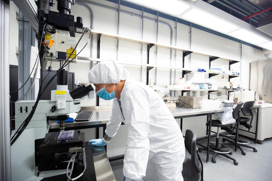 University of Calgary Biosafety Level 3 (BSL-3) lab.