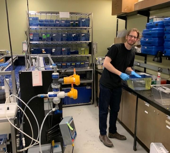 Dr. Patrick Gauthier in the lab