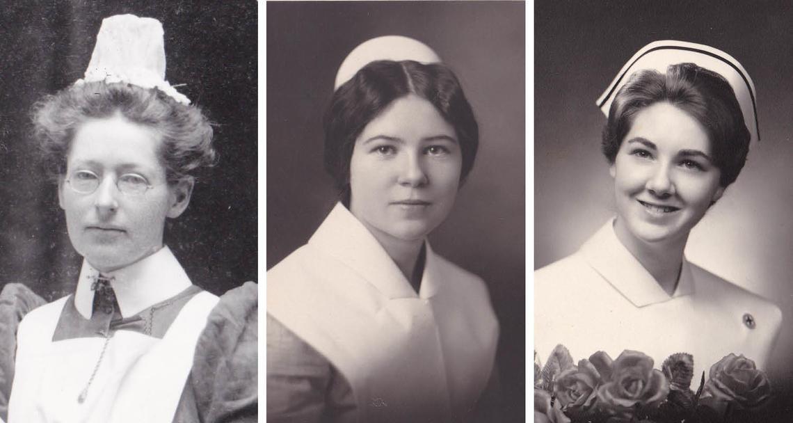 Three generations of nursing grads of the Calgary General Hospital