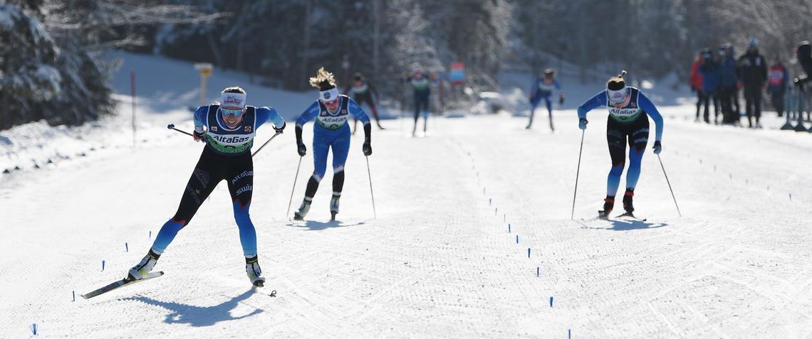 Elizabeth Elliott qualifies for World's U23 Championship at last year's skate sprint in Mont Saint-Anne, Quebec.