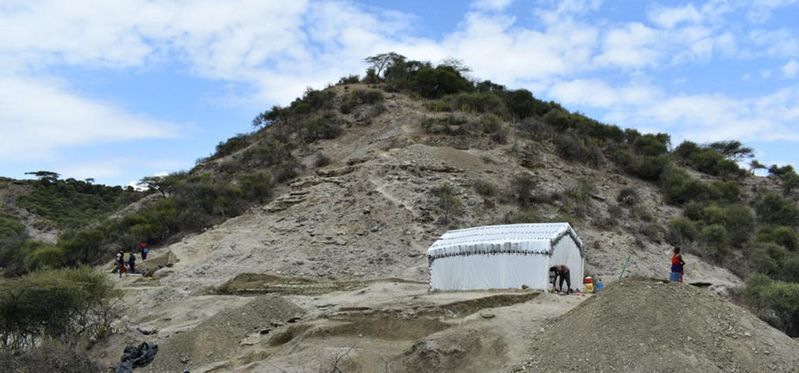 The research site at the Olduvai Gorge