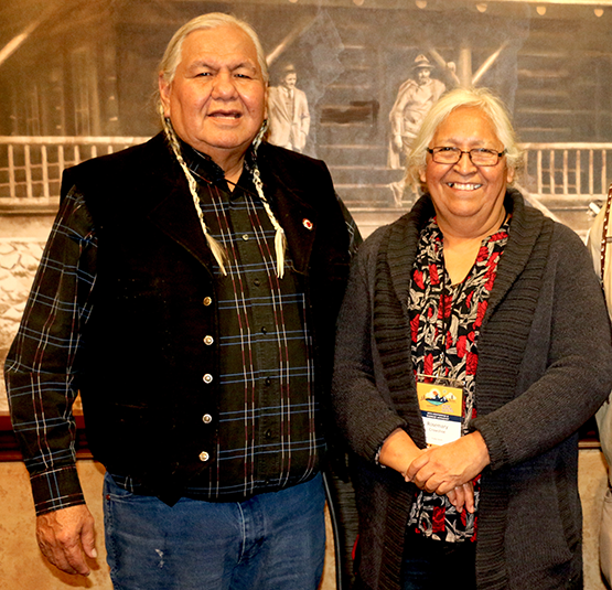 Piikani Elder and spiritual advisor Reg Crowshoe and Rose Crowshoe