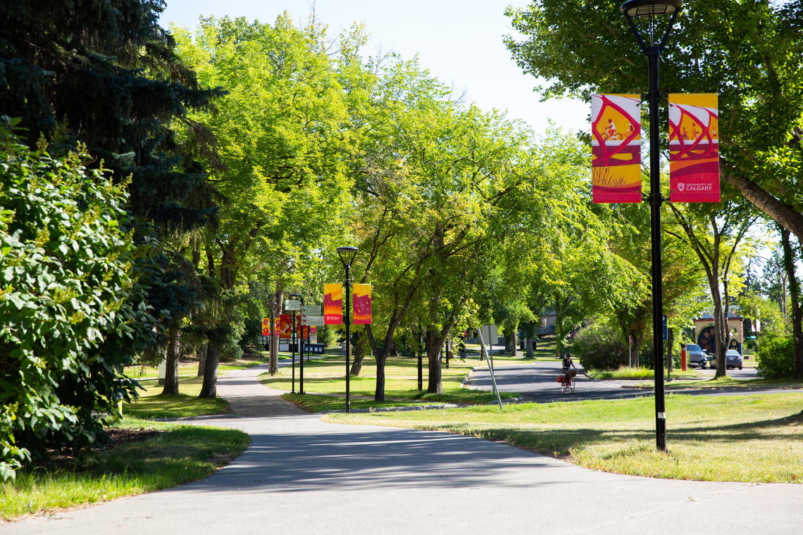 The University of Calgary campus in the summer of 2020 during the COVID-19 outbreak.