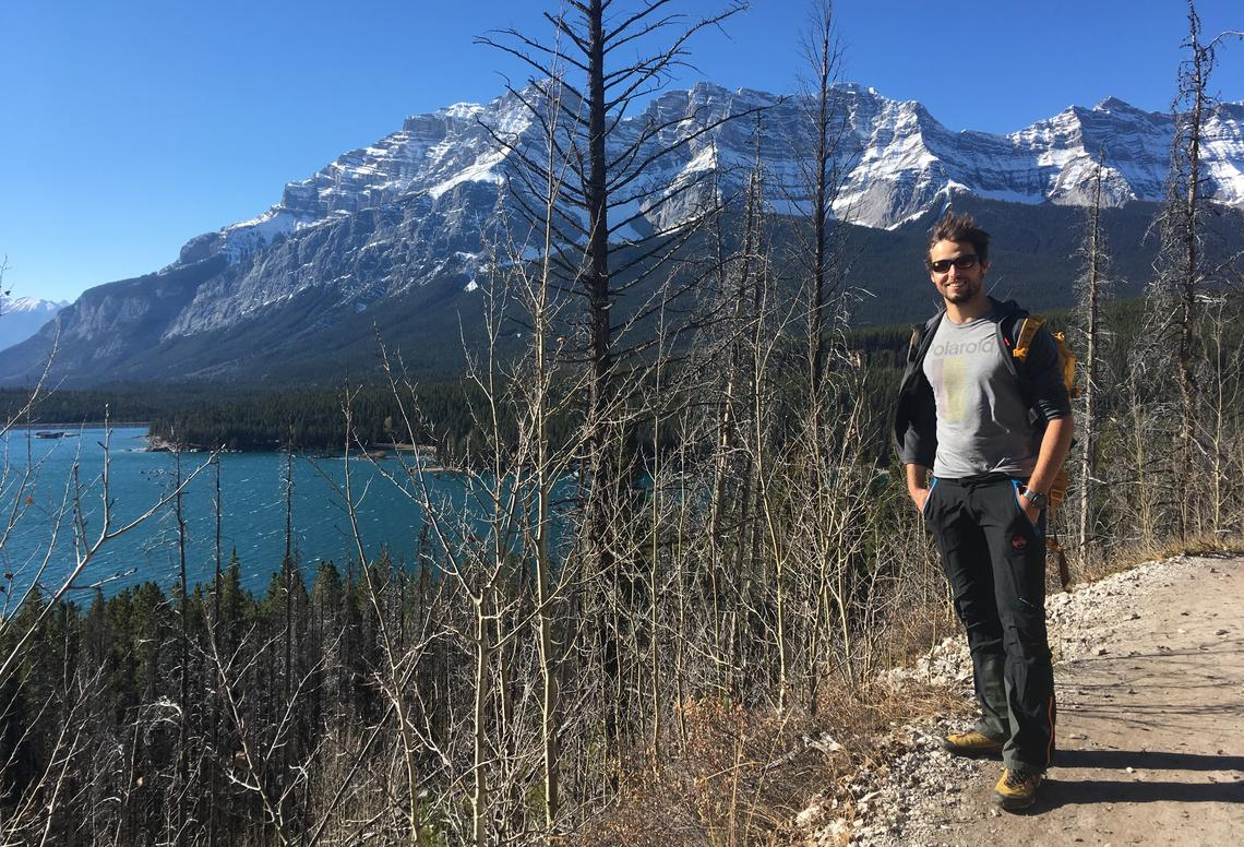 When Zindel could leave the lab and studies for a moment, he enjoyed hiking trails in Alberta.