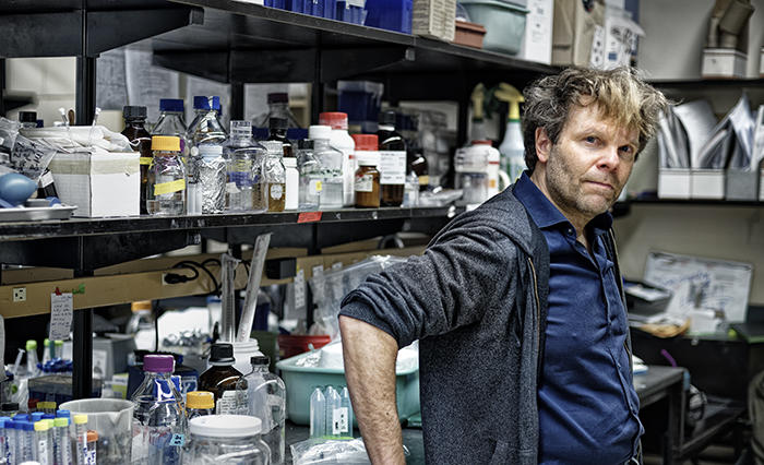 Peter Facchini in the lab