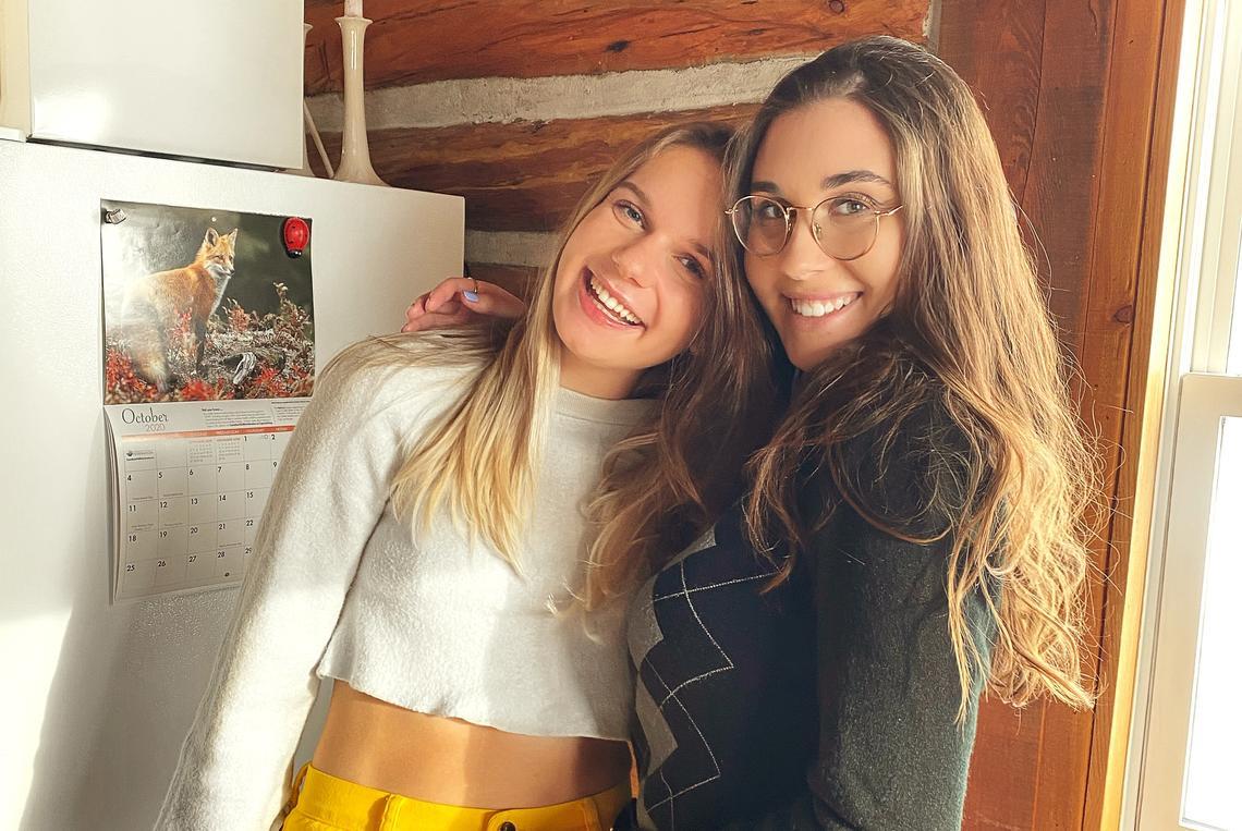 Sisters Sonja, left, and Katja Kathol