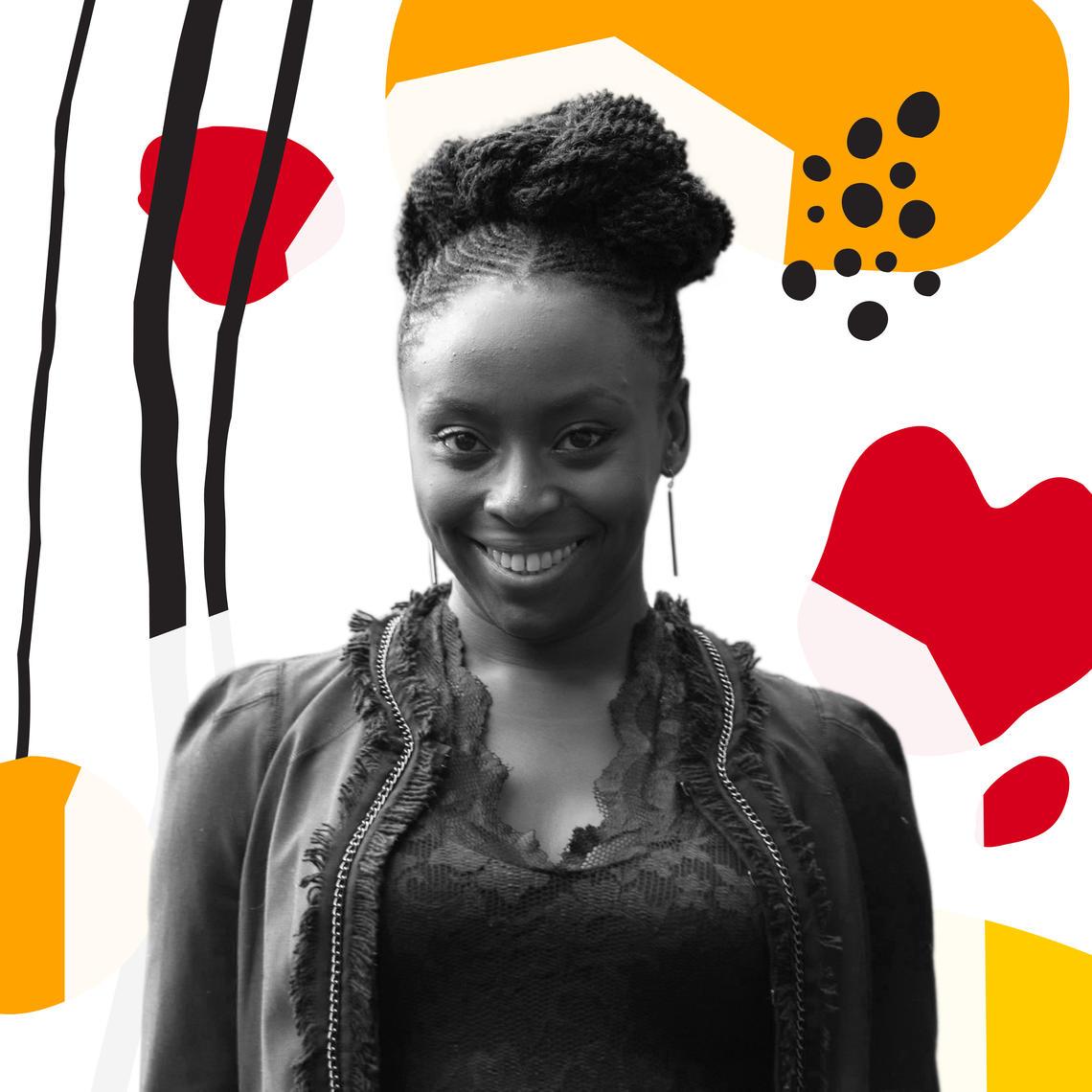 A portrait of Chimamanda Ngozi Adichie