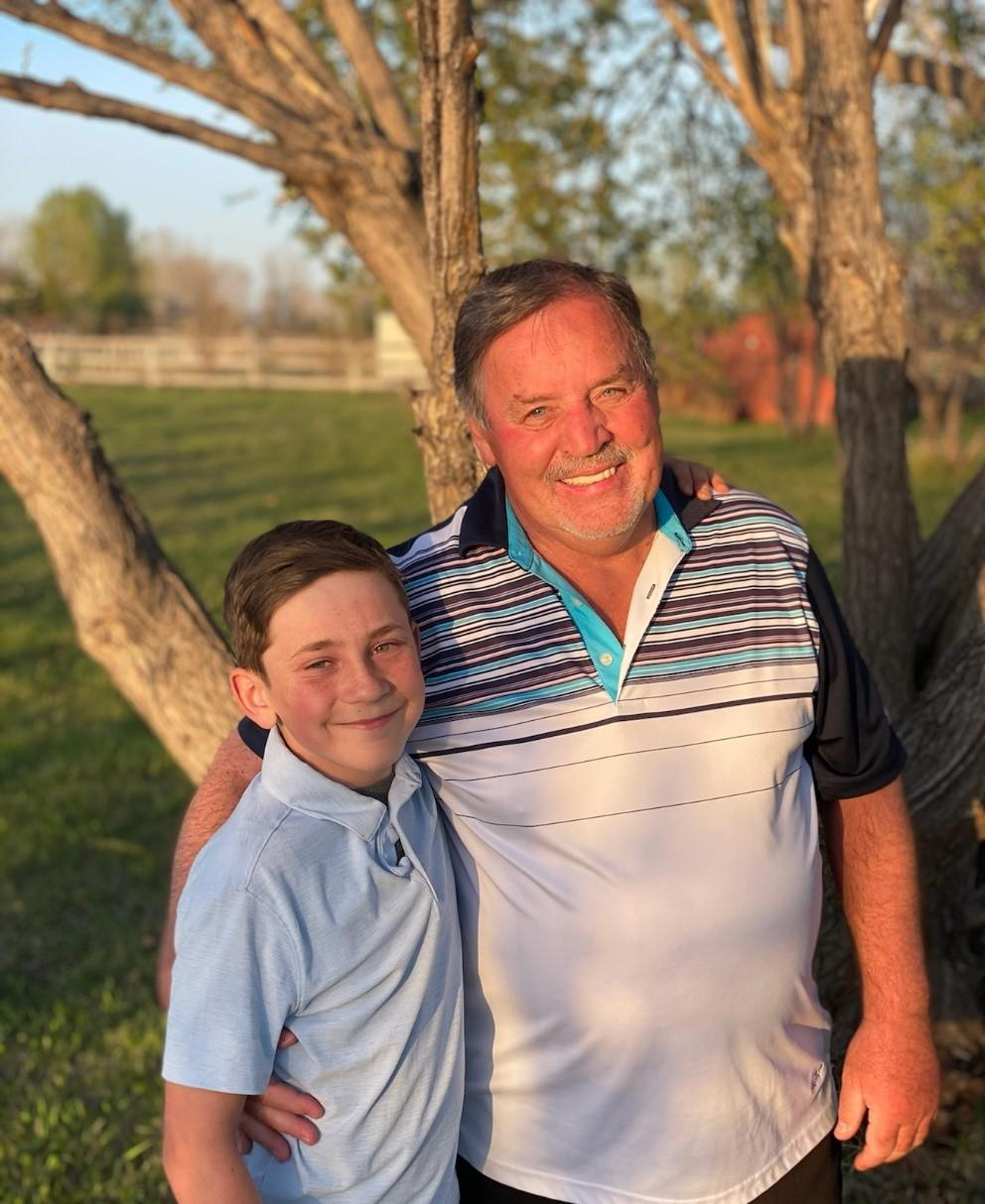 Terry Morey (right) and his grandson Cade
