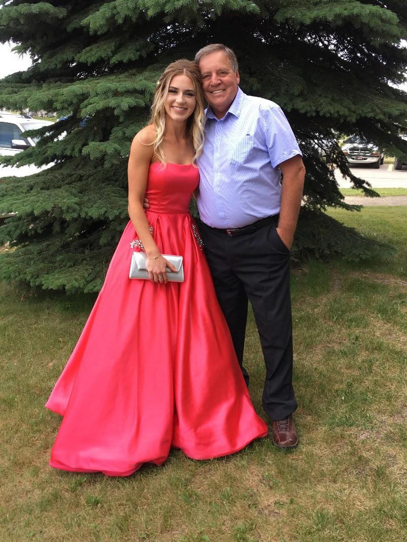 Terry Morey with and his grand-daughter, Laeken Kinch at her high school graduation. She now volunteers with the Glans-Look database.