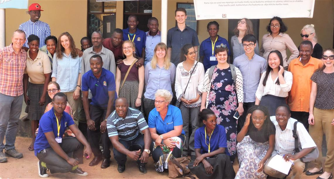 Group photo of interns, faculty and staff in Tanzania