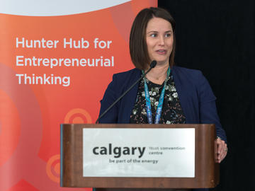 Sandra Sabel of Alberta Innovates delivering Ti2c opening remarks.